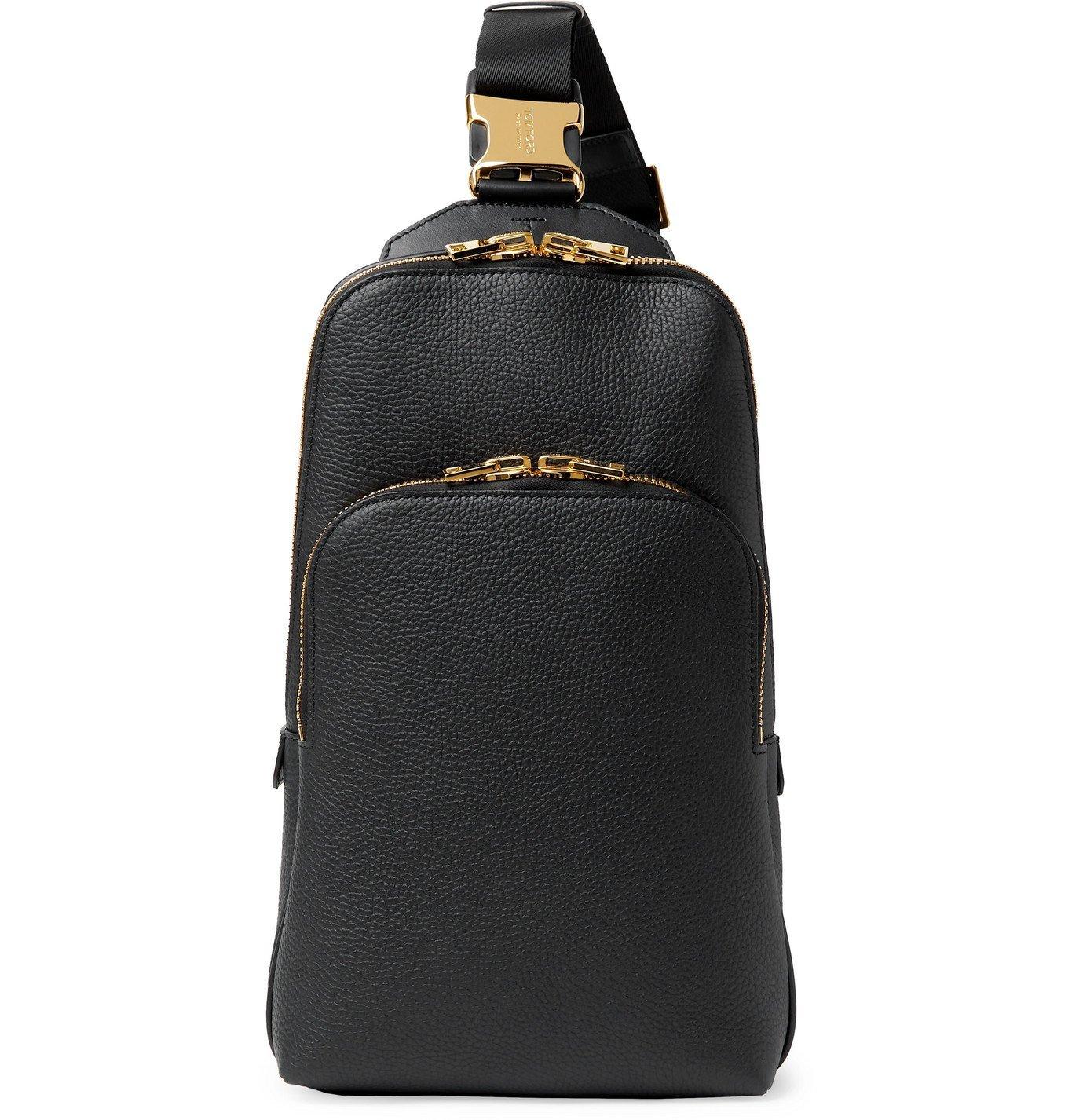 Photo: TOM FORD - Full-Grain Leather Sling Backpack - Black