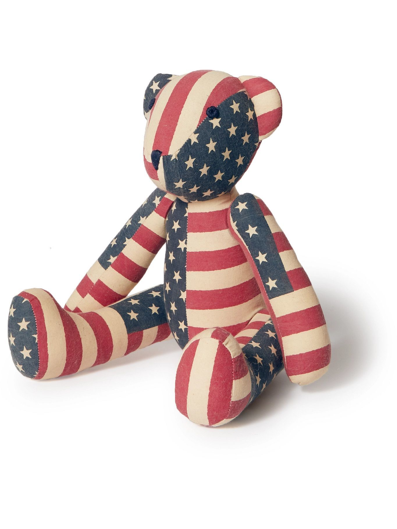 RRL - Limited Edition Printed Patchwork Cotton Teddy Bear