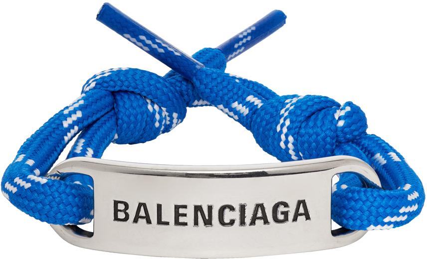 Photo: Balenciaga Blue Plate Bracelet