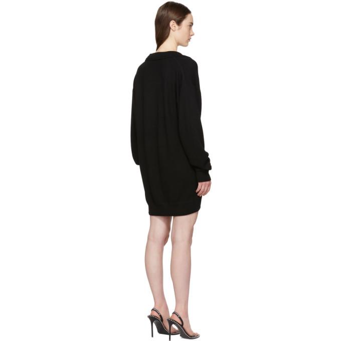 alexanderwang.t Black Collared Bi-Layer Tunic Dress