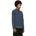Raf Simons Blue Jacquard Sweater