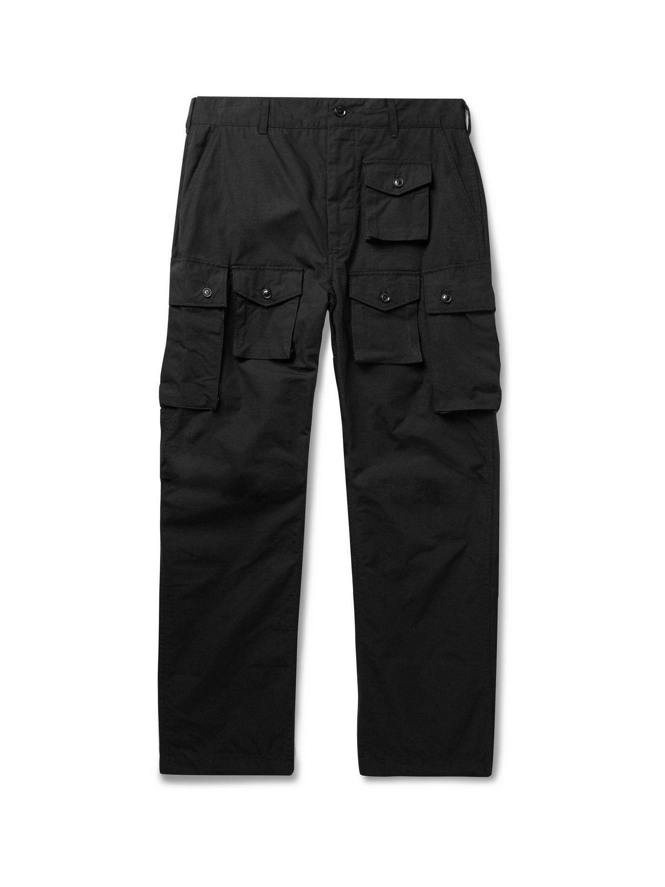 Photo: ENGINEERED GARMENTS - FA Cotton-Ripstop Cargo Trousers - Black