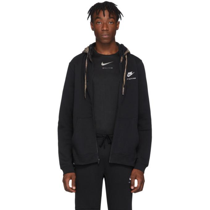 Photo: 1017 ALYX 9SM Black Nike Edition Double Hood Zip Hoodie