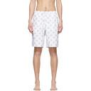 Sunspel White Sorimachi Cross-Word Swim Shorts