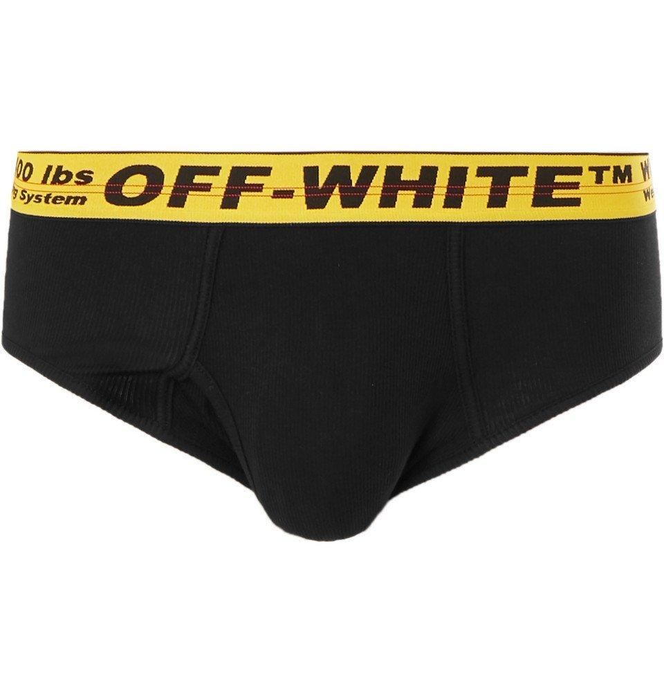 Photo: Off-White - Stretch-Cotton Briefs - Black
