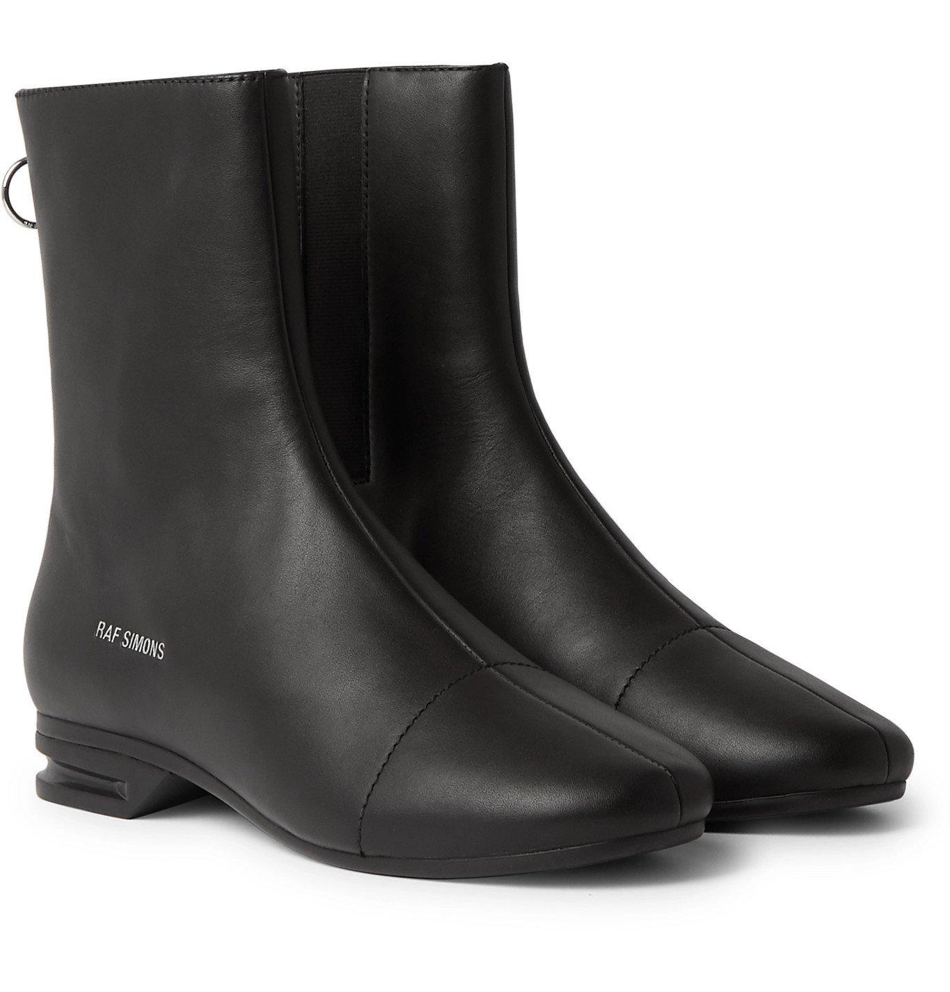 Photo: Raf Simons - 2001-2 Leather Chelsea Boots - Black