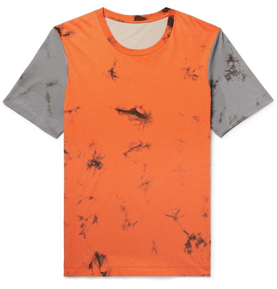 Photo: Helmut Lang - Printed Tie-Dyed Cotton-Jersey T-shirt - Men - Orange