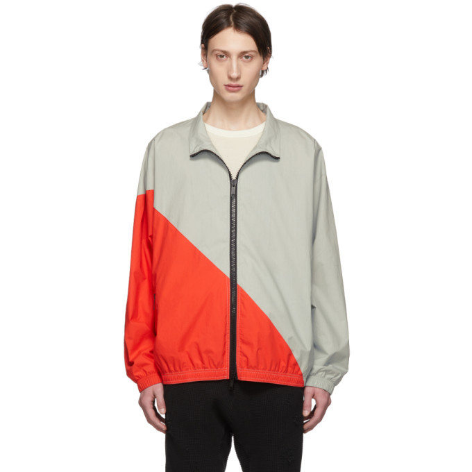 Photo: Unravel Grey and Red Cotton Motion Windbreaker Jacket