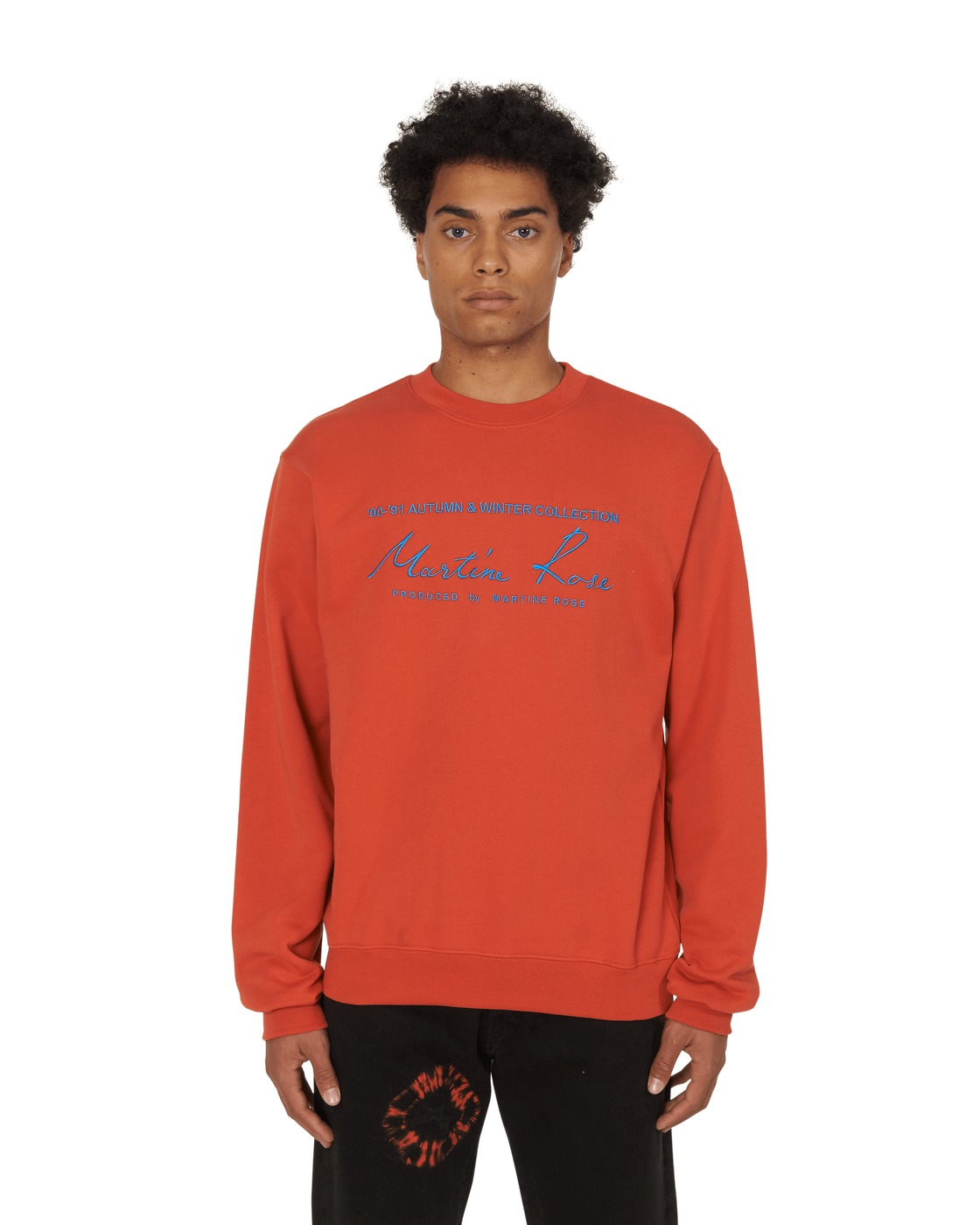 Martine Rose Classic Crewneck Sweatshirt Orange