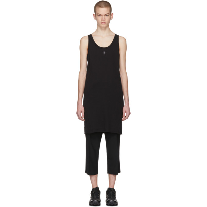 Photo: 11 by Boris Bidjan Saberi Black Logo and Type Tank Top