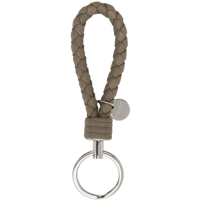 Photo: Bottega Veneta Grey Intrecciato Knot Keychain