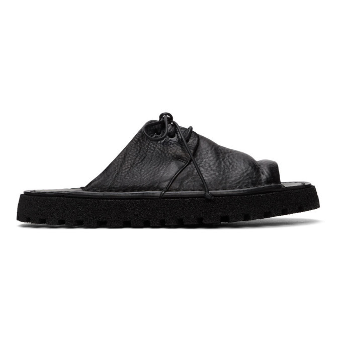 Photo: Marsell Black Gomme Sanpomice Lace-Up Sandals