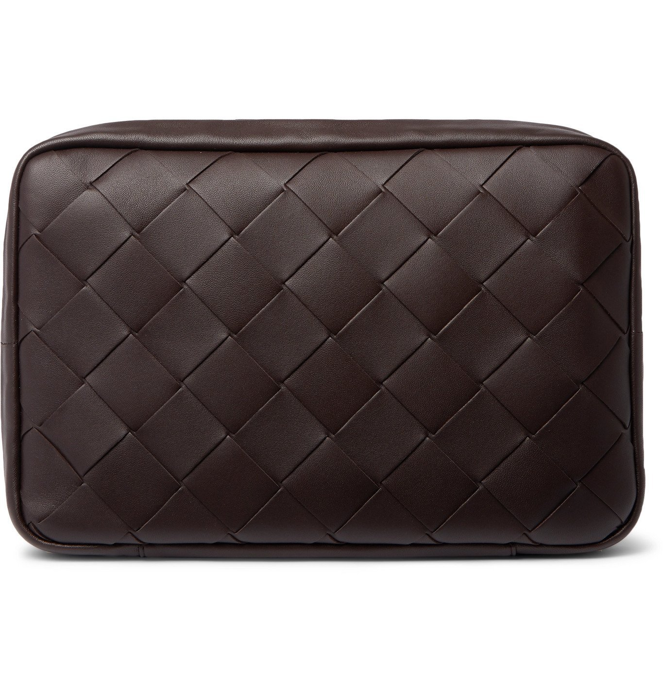 Photo: Bottega Veneta - Intrecciato Padded Leather Pouch - Brown