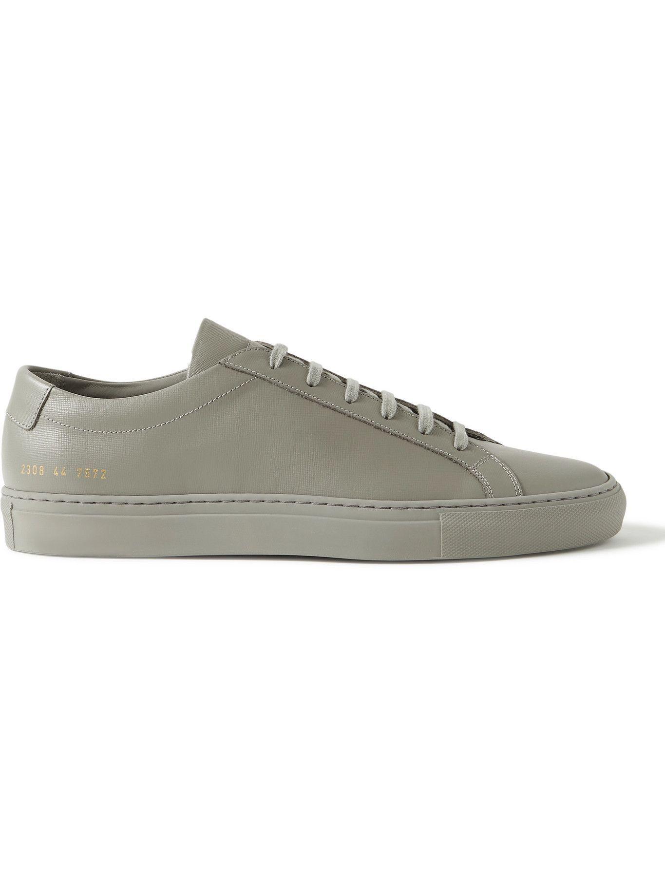 Photo: Common Projects - Original Achilles Saffiano Leather Sneakers - Gray
