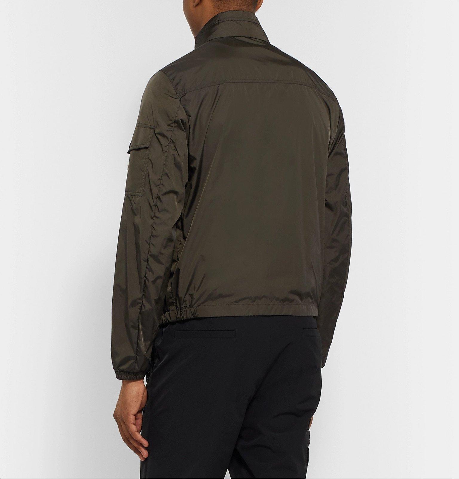 Moncler - Striped Shell Bomber Jacket - Green