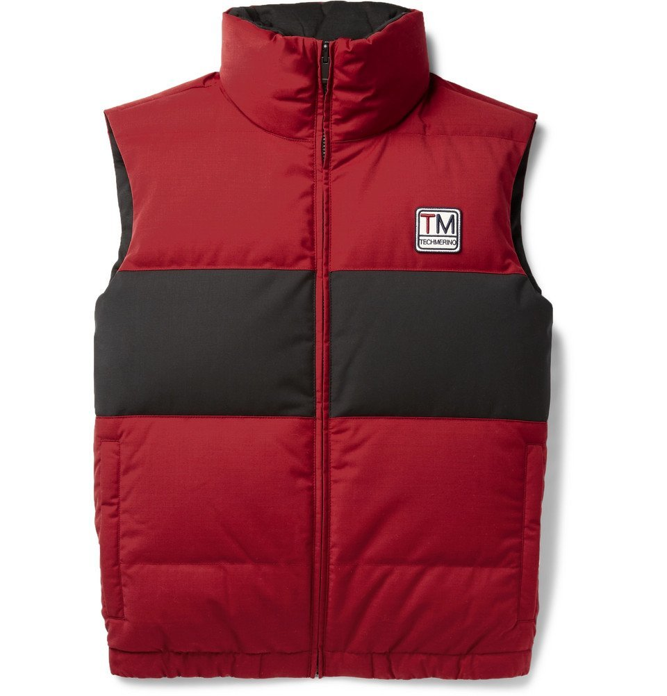 Photo: Z Zegna - Reversible Quilted TECHMERINO Wool-Blend Down Gilet - Red
