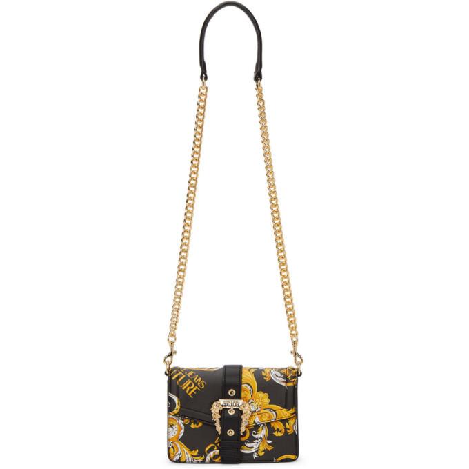 Photo: Versace Jeans Couture Black Faux-Leather Baroque Buckle Bag