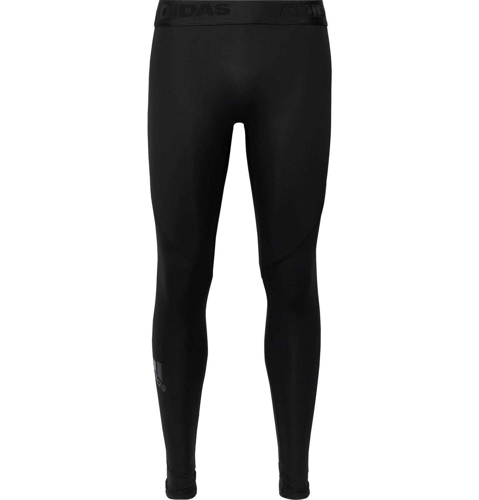 Adidas Sport - Alphaskin Mesh-Panelled Climacool Compression Tights - Black