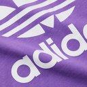 ADIDAS ORIGINALS - Logo-Print Colour-Block Cotton-Jersey T-Shirt - Purple - L