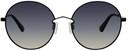 MCQ Black Metal Round Sunglasses
