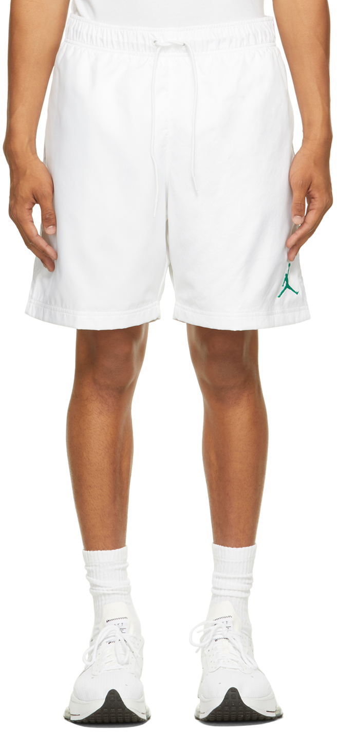 Photo: Nike Jordan White Jordan Jumpman Poolside Shorts