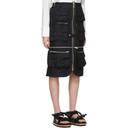 Sacai Navy Gabardine Pocket Skirt