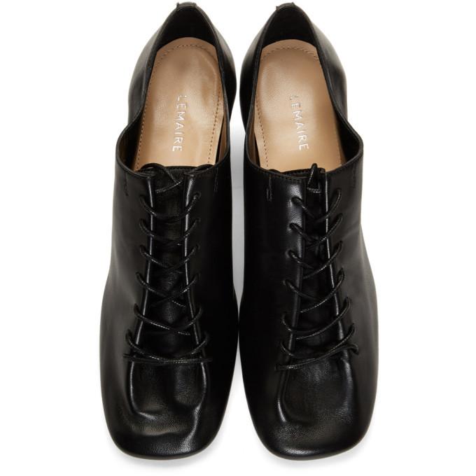 Lemaire Black Derby Heels