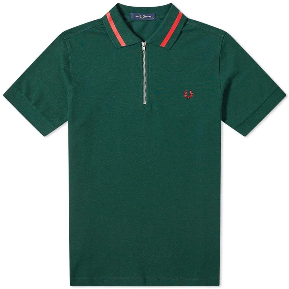 Photo: Fred Perry Authentic Zip Neck Pique Polo
