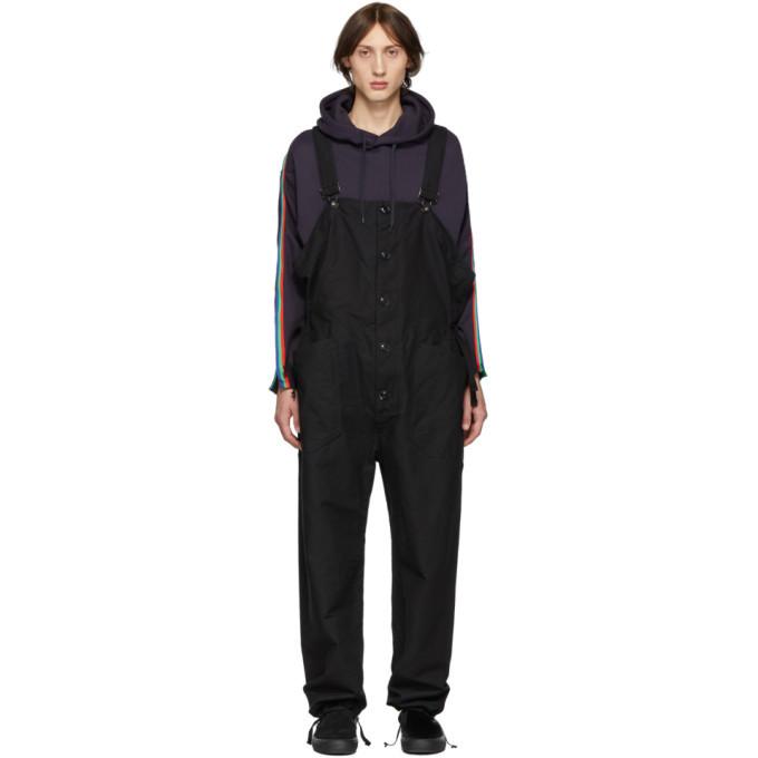 Engineered Garments Black Canvas Overalls
