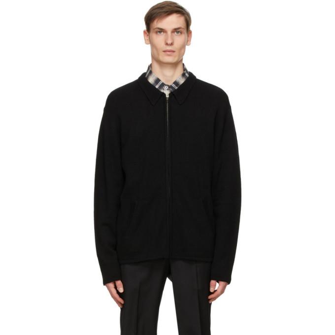 Photo: Winnie New York Black Wool Zip-Up Sweater