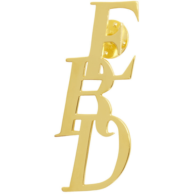 Photo: Enfants Riches Deprimes Gold Logo Pin