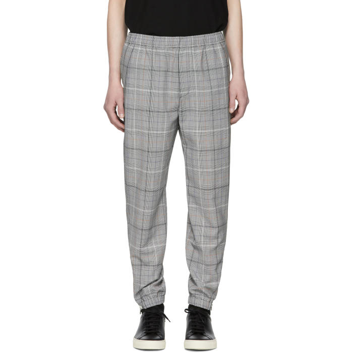Photo: Tim Coppens Grey Wool Check Staple Jogger Trousers