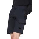 C.P. Company Navy Light Fleece Bermuda Cargo Shorts