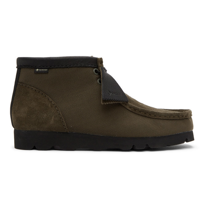 Photo: Clarks Originals Khaki Gore-Tex® Wallabee Desert Boots