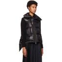 Sacai Black Down Wool Knit Zip-Up Jacket