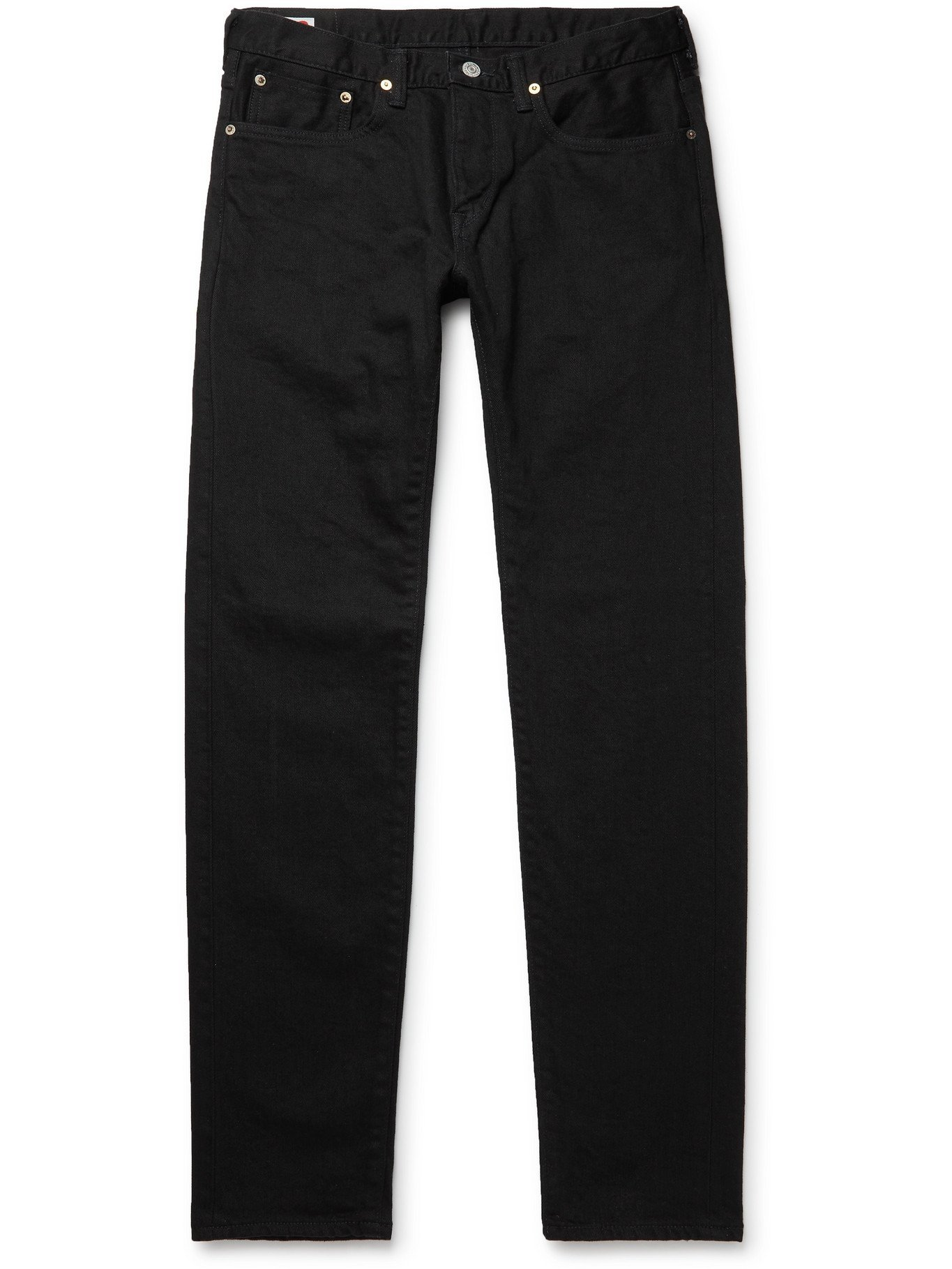 Photo: EDWIN - Kaihara Slim-Fit Tapered Selvedge Denim Jeans - Black - UK/US 30