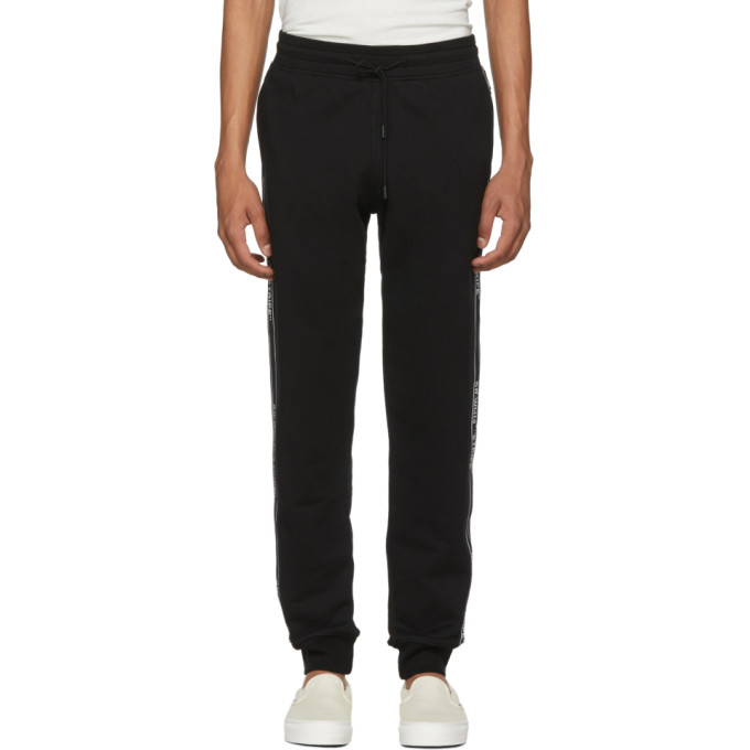 Photo: Off-White Black Stripe Logo Sweatpants