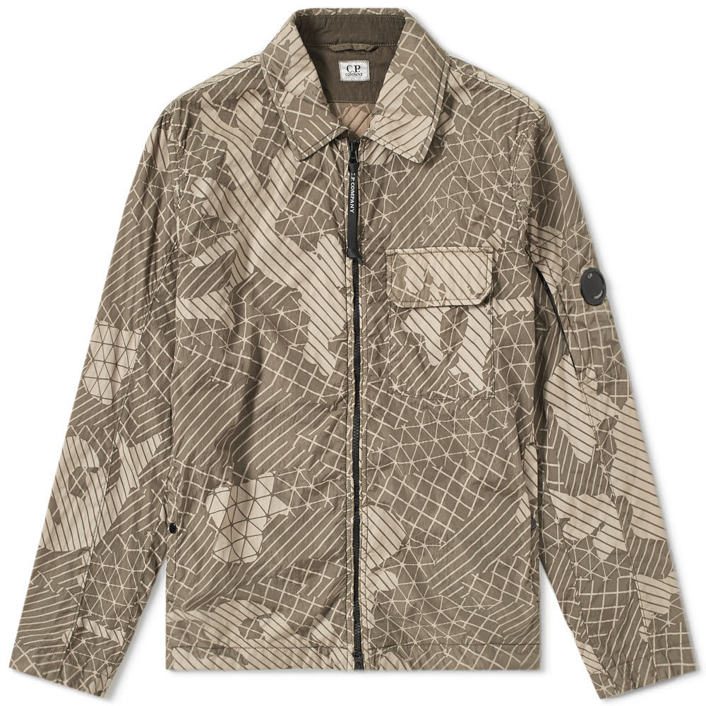 C.P. Company Camo Net Arm Lens Shirt Jacket