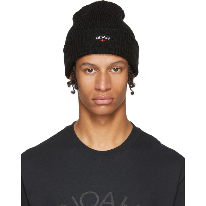 Noah NYC Black Core Logo Beanie Noah NYC d823cd82880