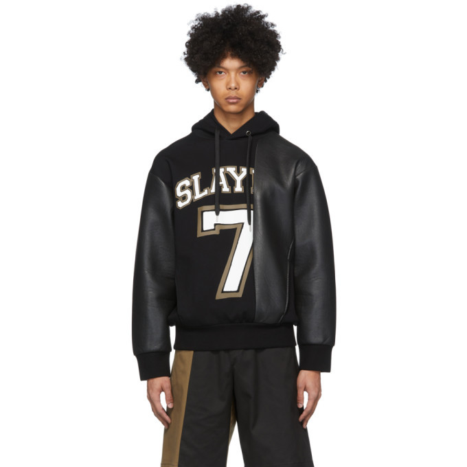 Photo: Neil Barrett Black Ecoleather Slay 7 Hoodie