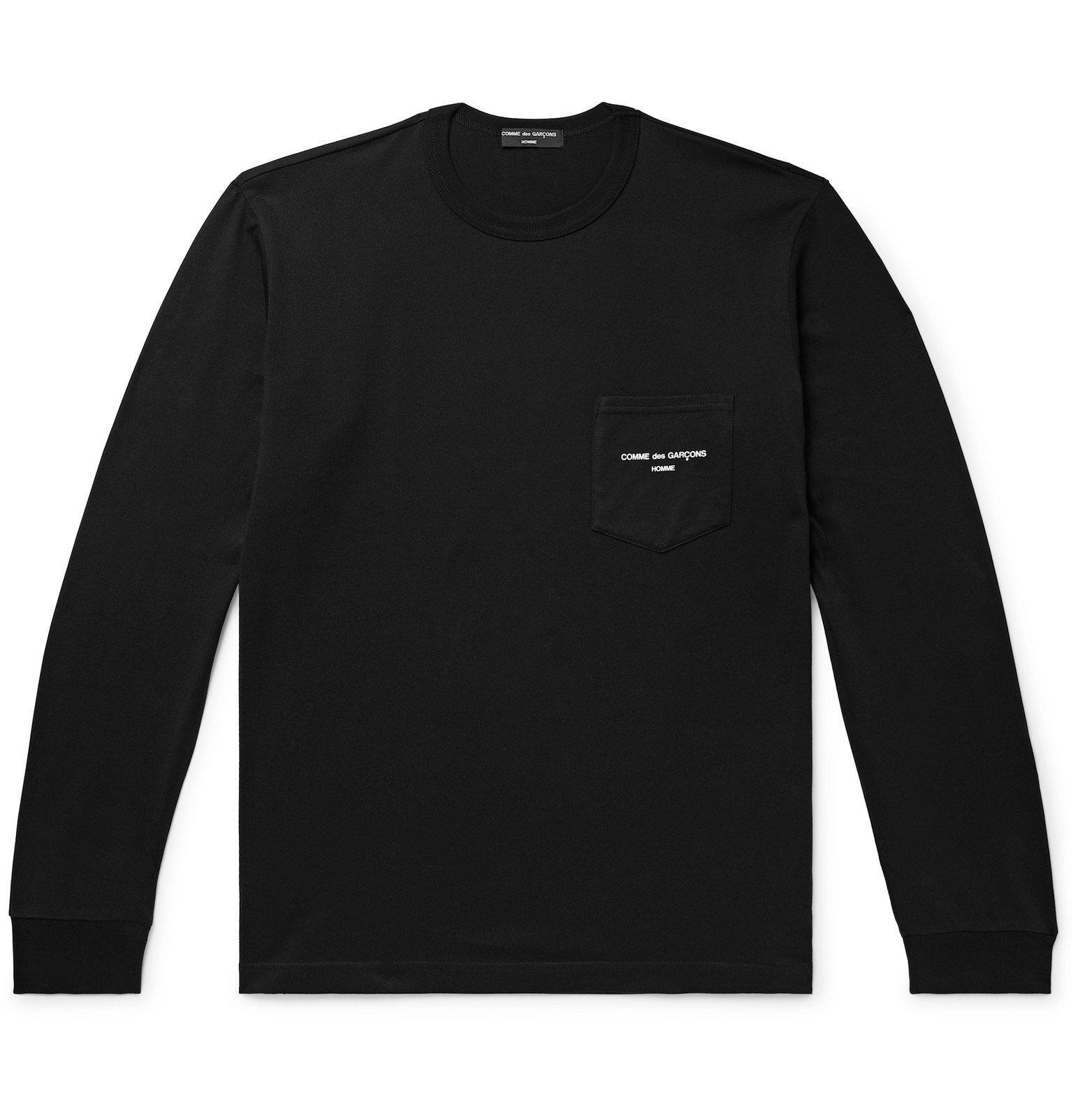 Photo: Comme des Garçons HOMME - Logo-Print Cotton-Jersey T-Shirt - Black