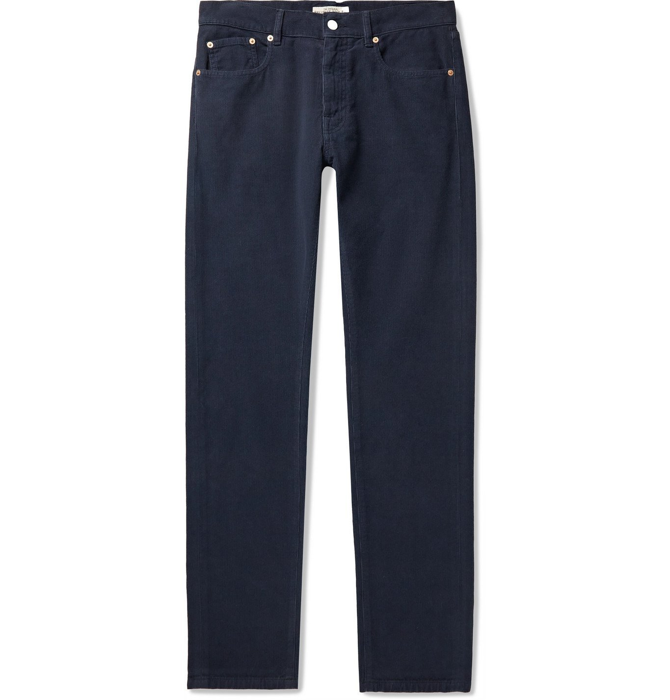 Photo: BELSTAFF - Longton Slim-Fit Cotton-Corduroy Trousers - Blue