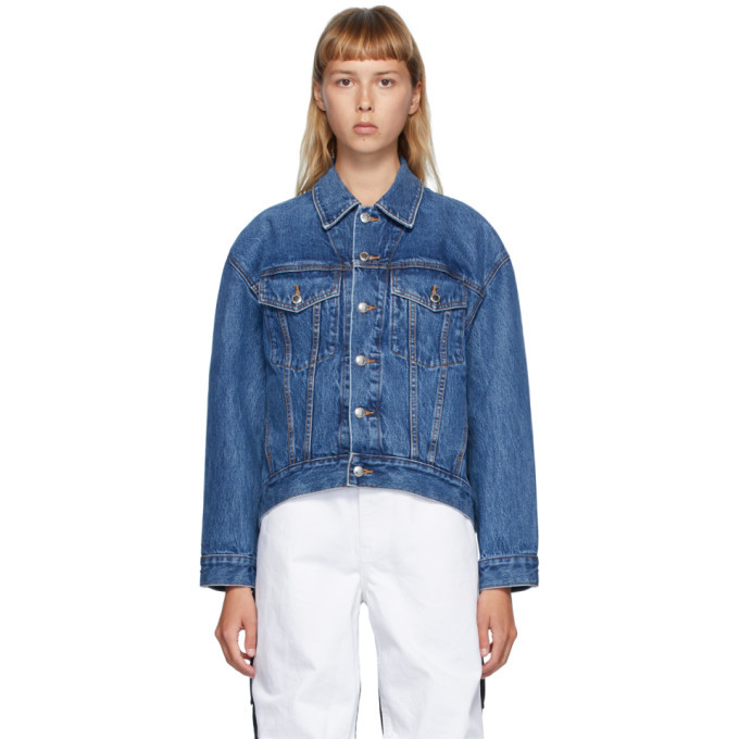 Photo: Alexander Wang Blue Denim Falling Back Jacket