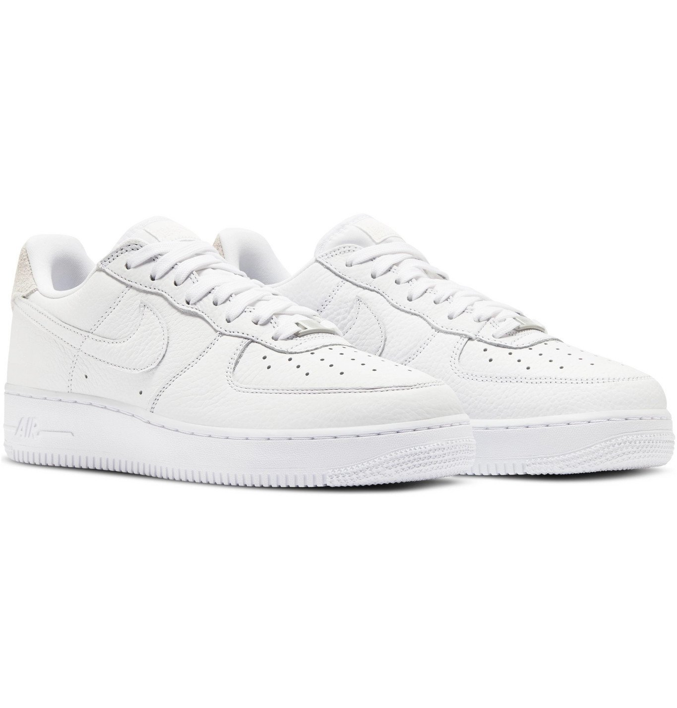 Photo: Nike - Air Force 1 07 Suede-Trimmed Leather Sneakers - White