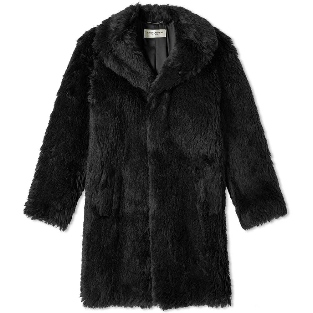 Photo: Saint Laurent Raglan Faux Fur Coat