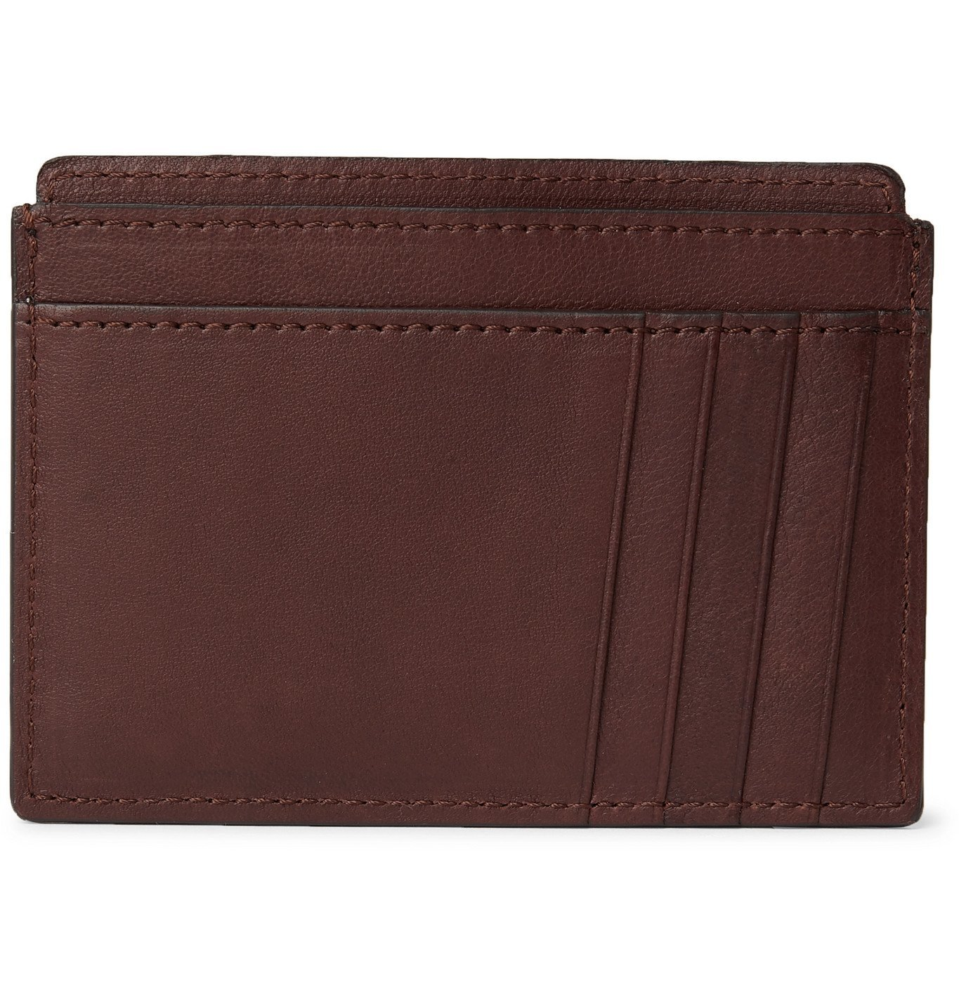Photo: Brunello Cucinelli - Full-Grain Leather Cardholder - Brown