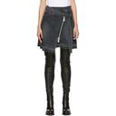 Sacai Black Denim Asymmetric Wrap Miniskirt