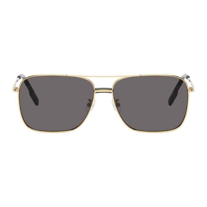 Photo: Kenzo Gold and Grey Shiny Endura Sunglasses