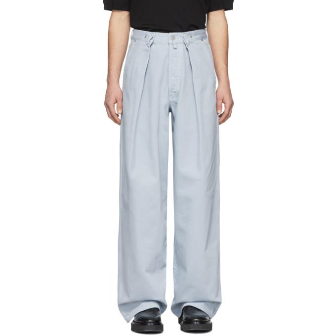 Photo: Dries Van Noten Blue Publish Trousers