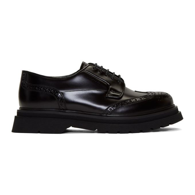 Photo: Prada Black Wingtip Brogues